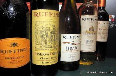 Ruffino, Wine Dinner, Villa Danieli, Sheraton Imperial Kuala Lumpur, Italian
