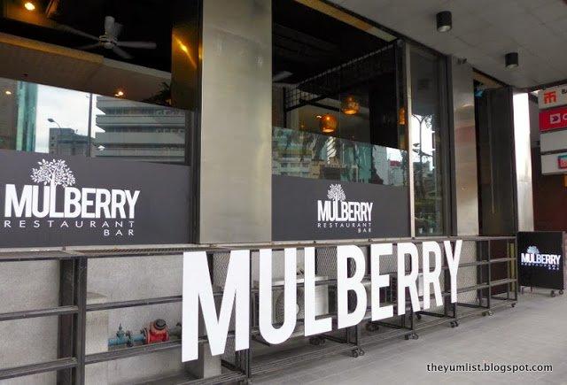Mulberry, Christmas Eve Menu, Kuala Lumpur