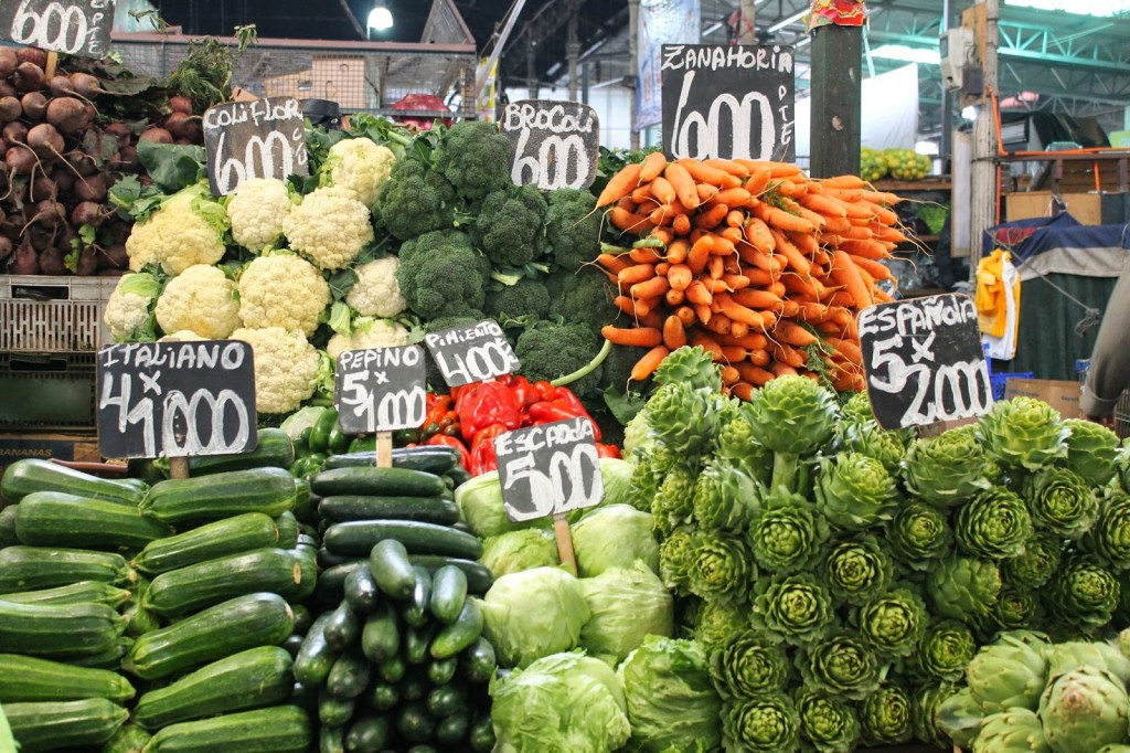 Chile fruit and vegetable market