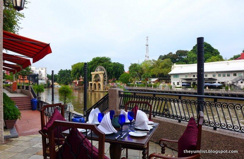 riverside restaurant, malacca