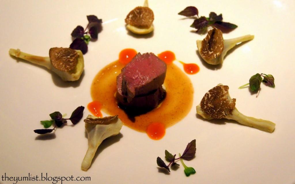 Veal with Artichoke Salad, Truffle, Mandarin Grill