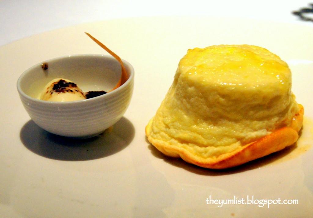 Ricotta Souffle, Truffle Ice Cream, Mandarin Grill