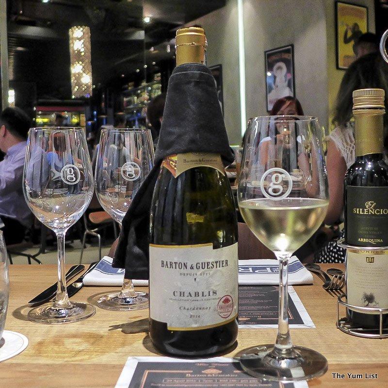 wine paired dinners in Kuala Lumpur, Barton & Guestier