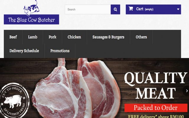 The Blue Cow Butcher, online meat shopping, Kuala Lumpur