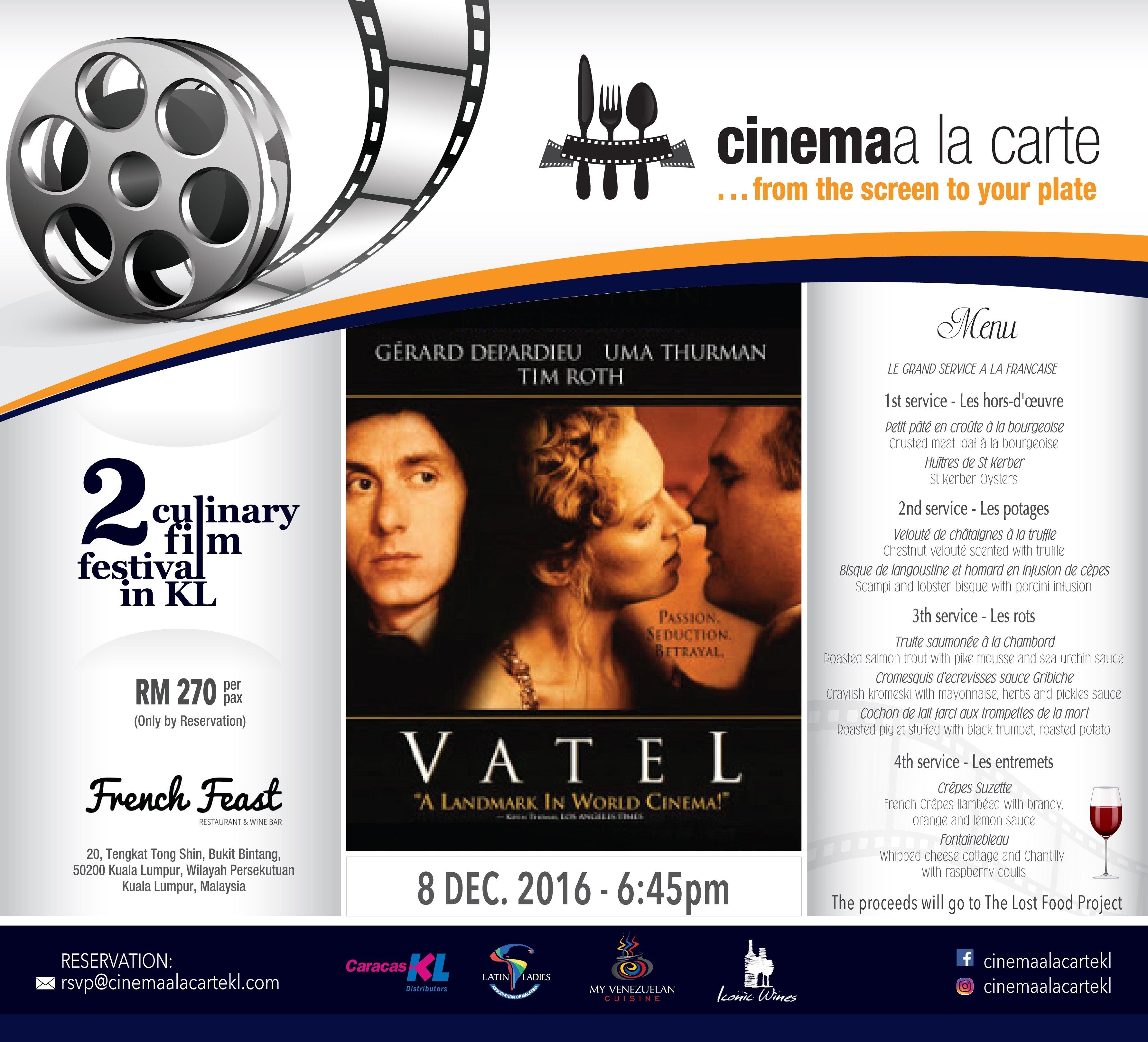 Cinema a la Carte, Kuala Lumpur, 2016