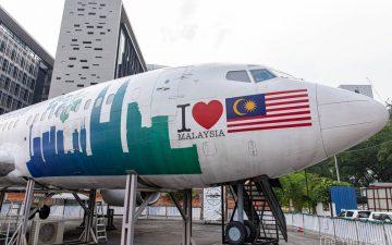 Plane in the City Kuala Lumpur